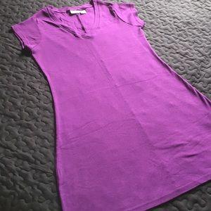 Newport News Dresses - NWOT 100 % COTTON FABRIC T-SHIRT DRESS